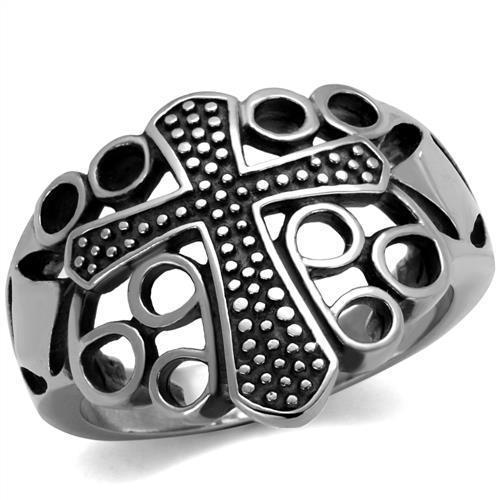 Mansaku Premium Quality 316 Stainless Steel Rings For Men & Women Holy Cross Unisex Ring See Through Design Lead & Nickel Free(China (Mainland))