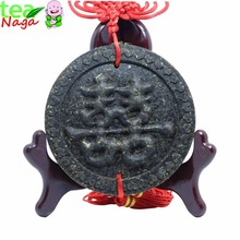 Gift packing chinese tea Pu-erh tea 100g puer tea 0.1g puer Hubei pu'er Chinese knot pendant for wedding gift puer 0.1kg(China (Mainland))