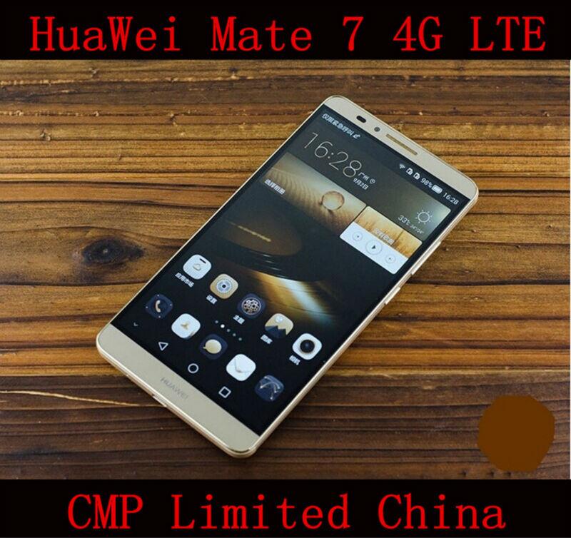 "Original Huawei Ascend Mate 7 4G LTE Cell Phone Octa Core Anroid 4.4 6.0"" FHD 1920X1080 3GB RAM 32GB ROM 4000mAh Fingerprint NFC(China (Mainland))"