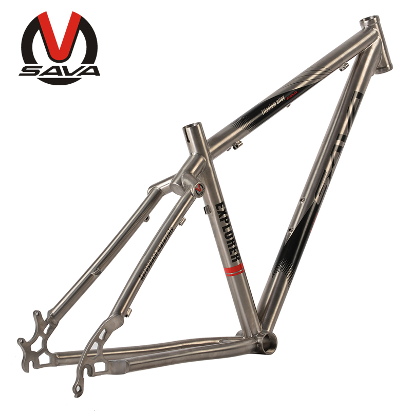 SAVA 26'' /27.5''Mountain Bike Frame Bicicleta Bicycle Frame Titanium Racing Bicycle Frame Quadro De Bicicletas Size 16''/17''(China (Mainland))