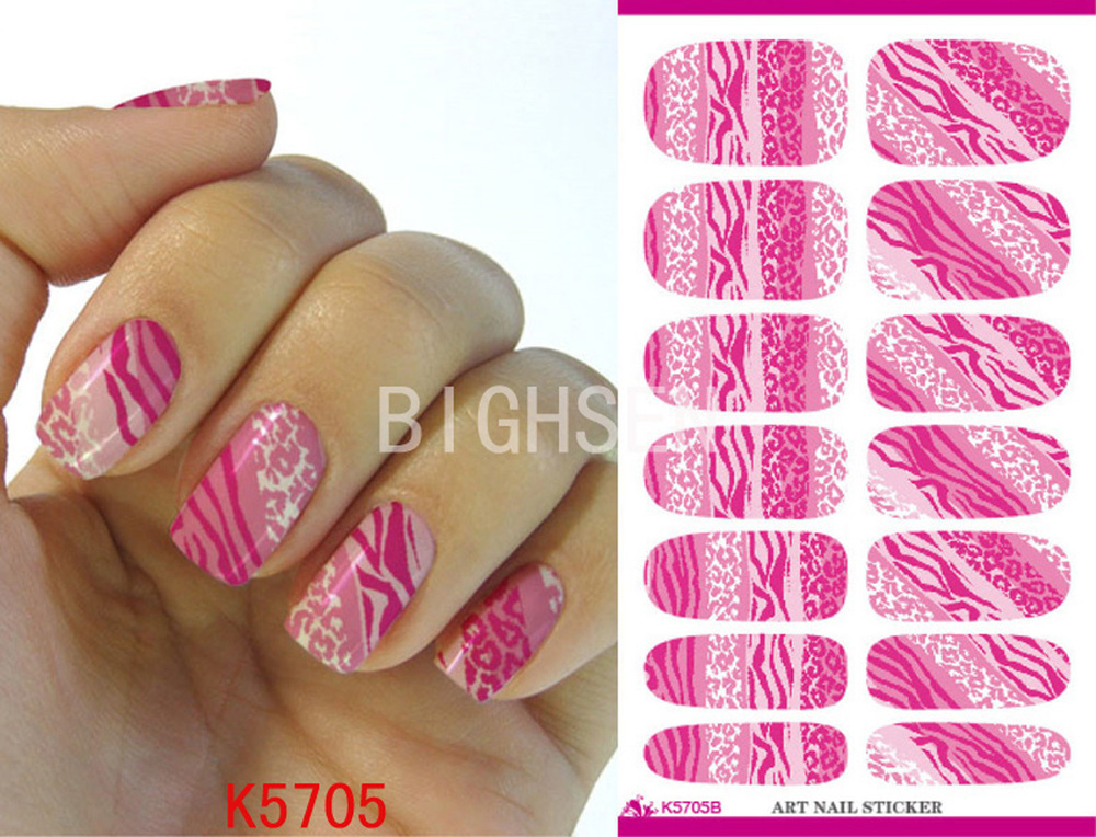Wave Design Full Cover Water Sticker Nail Art Water Transfer Art Nail Water Decals Perno Colored Nails Tips Water Decals BK5705B(China (Mainland))