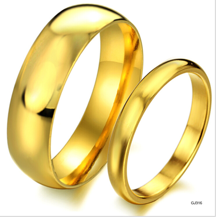 fashion korean fashion 18k gold wedding man ring male and With wedding rings male and female