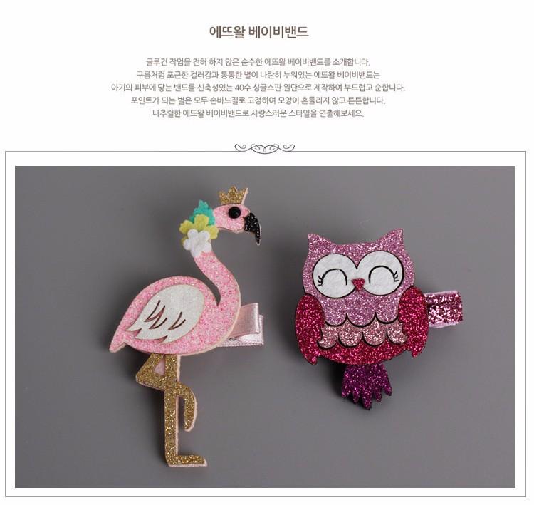 Fashion Cute Cartoon Flamingo And owl Baby Hairpins kids Hair Clips Children Headwear Princess Barrette Girls Hair Accessories