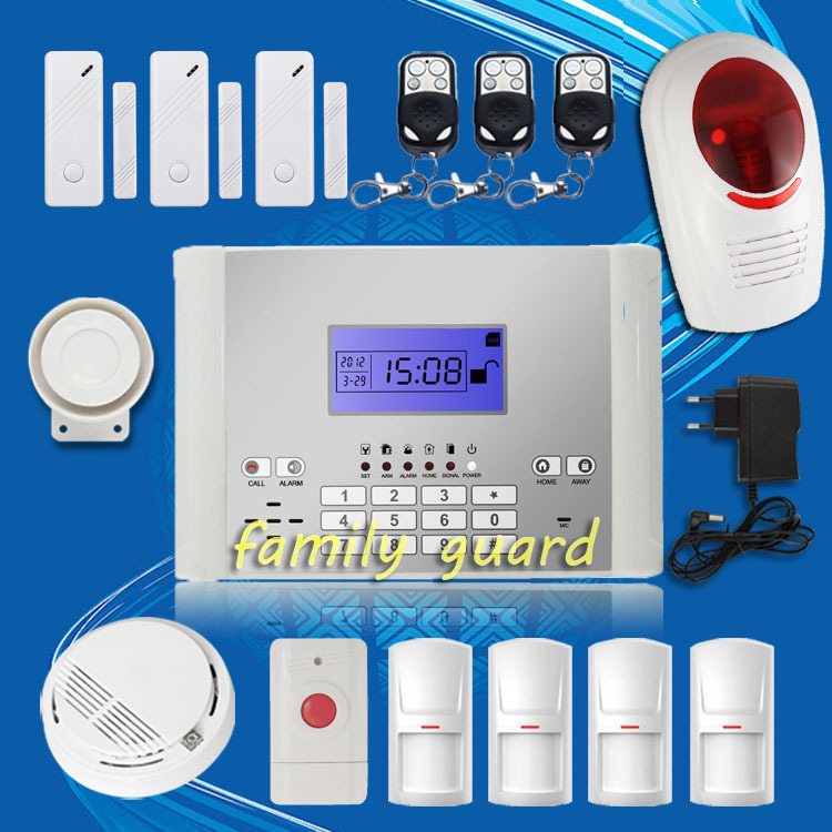DHL Free Shipping!Android APP Wireless GSM SMS Home Alarm System 99 Zones Long Distance Control+Outdoor Flash Siren+Smoke Sensor(China (Mainland))