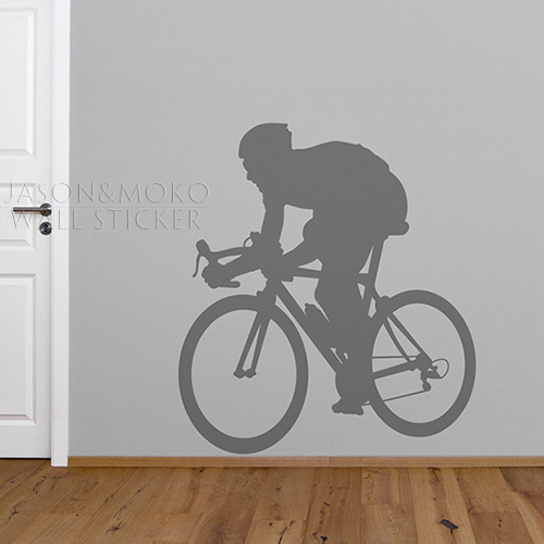Vinyl wall art decor for the bicycle enthusiast wall for Bicycle decorations home