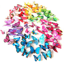 12pcs/lot 3d butterfly fridge magnets home decor decorative refrigerator stickers Room Decoration GYH(China (Mainland))