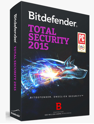 BitDefender Total Security 2015 2014 1 year 3 User Online activation(China (Mainland))