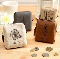 Vintage 1207 memory square coin purse wallet card case key wallet coin purse (KG-03)