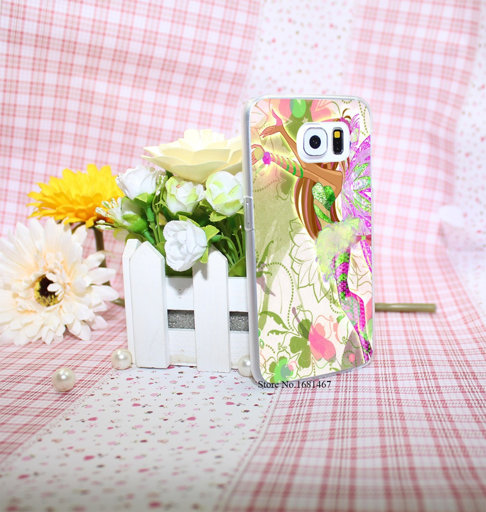 winx club vinks 7 season flora Style Hard Transparent Phone Cases Cover for Galaxy S6 edge s5 s4 mini s3 mini(China (Mainland))