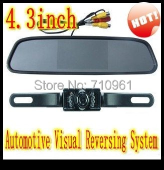 Parking Assistance Best Price Good Quality free Shipping 4.3 Inch Video Input Color Rear View Automotive Visual Reversing System(China (Mainland))