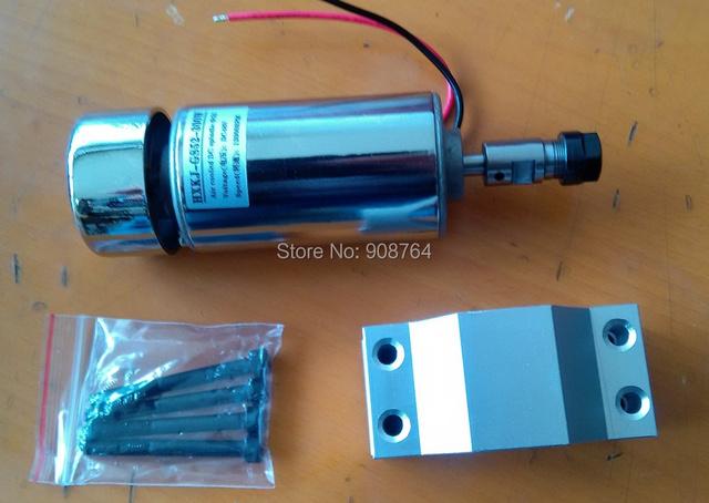 cnc spindle motor 52mm 0.3kw 300w  ER11 chuck  DC 12-48v  engraving cnc spindle 300w cnc engraving machine+clamp