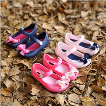 Summer children's bow knot jelly  baby shoes 2016 high Quality Baby Girl Shoes(China (Mainland))