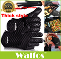 WALFOS food grade 1 piece Heat Resistant Silicone rubber BBQ Grill Glove for cooking oven Glove