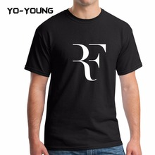 Buy Yo-Young Men T Shirts Roger Federer RF Letters LOGO PU Printed 100% 180g Combed Cotton Summer Men T shirts Customized for $9.61 in AliExpress store