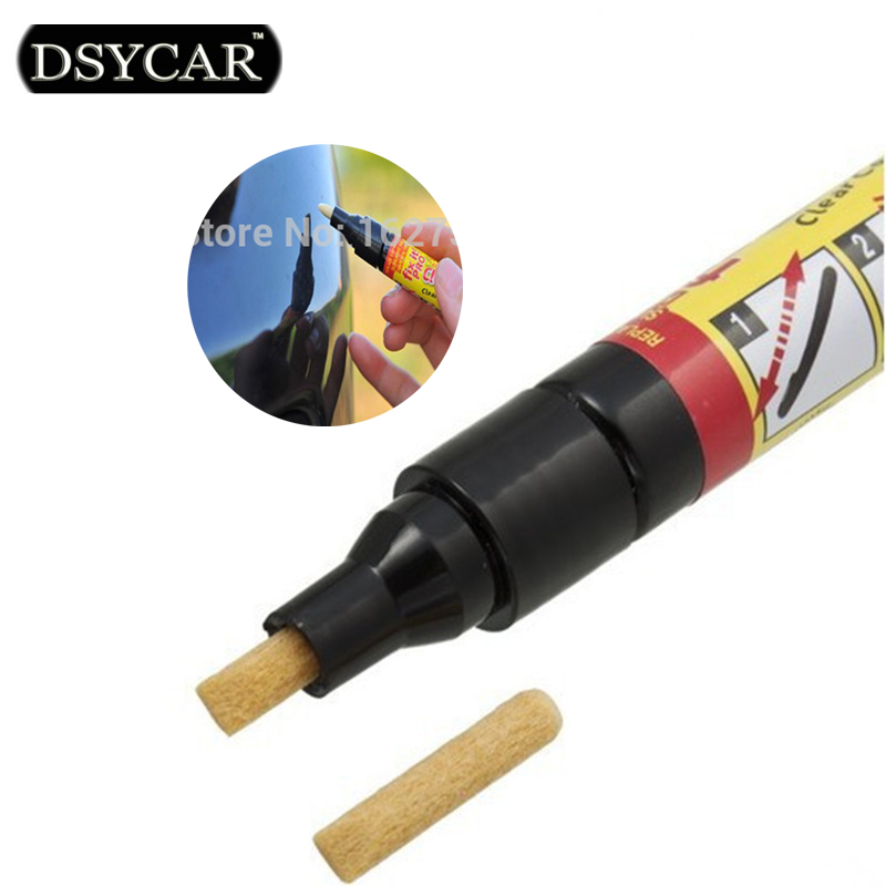 DSYCAR 1pcs New Non Toxic Car Clear Coat Applicator Fix It Pro Clear Car Scratch Repair Remover Pen Car-styling cleaning tools(China (Mainland))