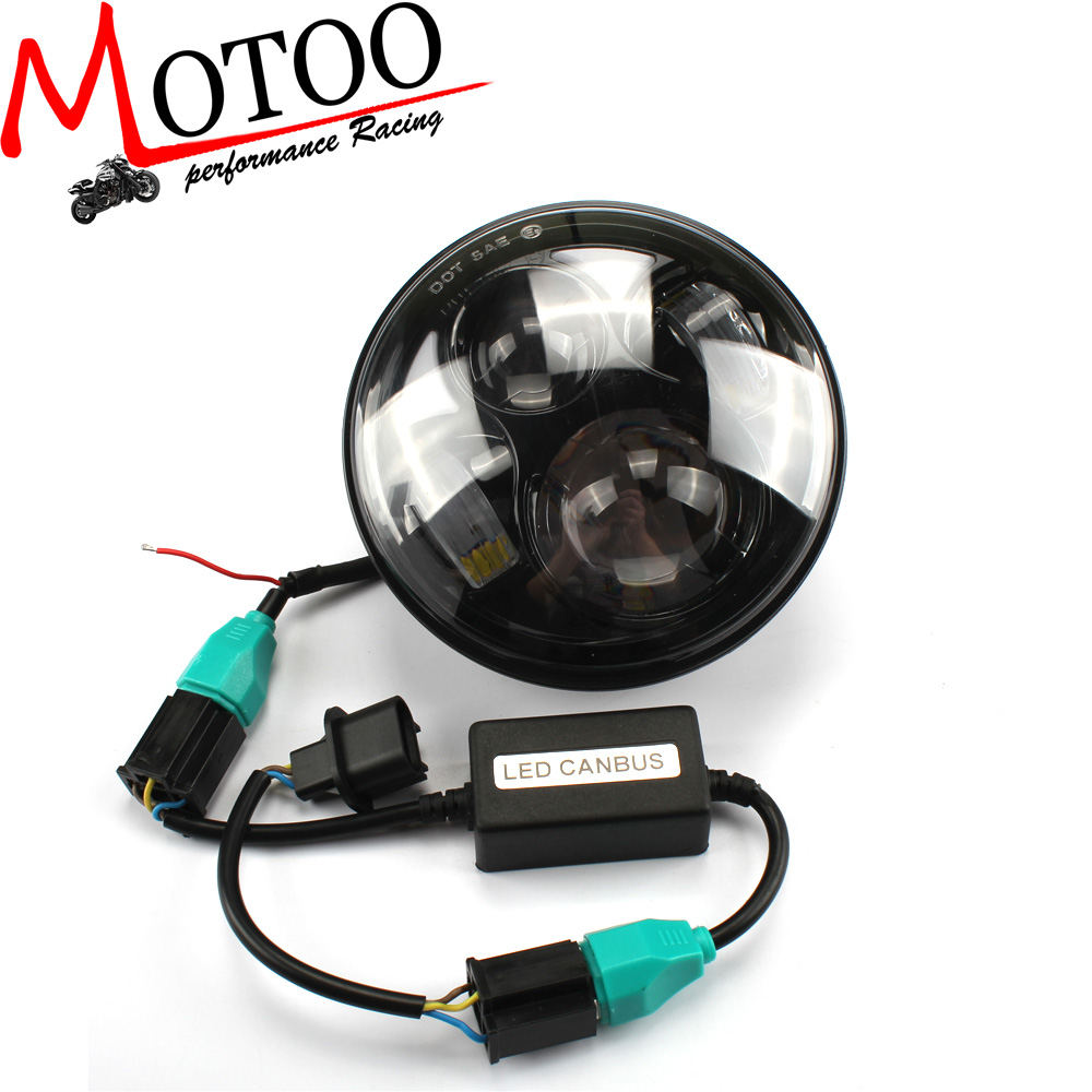 Motoo - Headlight 5-3/4 5.75 Inch Motorcycle Projector High / Low HID LED Front Driving Headlamp Head Ligh For Harley<br><br>Aliexpress