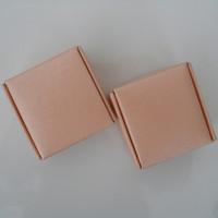 Brand New 6.5*6.5*3cm Wedding Gift Cardboard Pack Box Pink Kraft Paper Jewelry Cupcake Handmade Soap Cookie Package Boxes