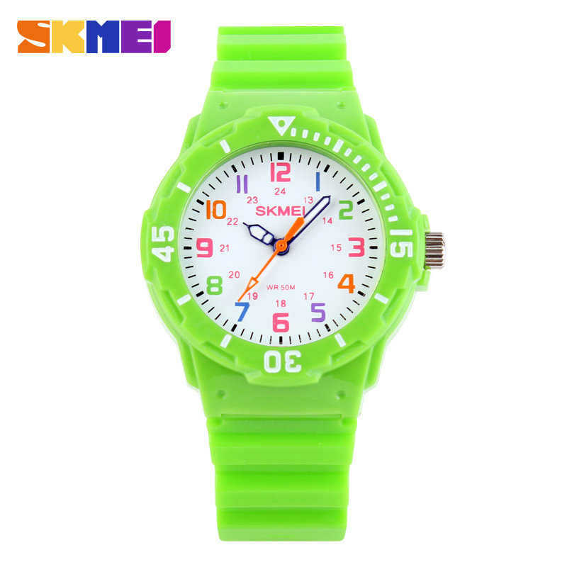 Children Watch Fashion Skmei 1043 Brand Watches Quartz Wristwatches Waterproof Jelly Kids Clock boys girls Students Wristwatch - Tesco Electronic Commerce co., LTD store