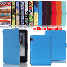 HK001,New Luxury Elegant Smart Ultra slim Pu leather case cover for Kindle Paperwhite Free Shipping