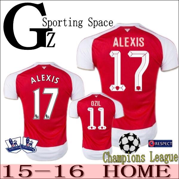 Champions League 15 16 Jersey Home 2015 2016 Soccer Jersey ALEXIS OZIL WALCOTT GIROUD WILSHERE football shirt Soccer WALCOTT(China (Mainland))