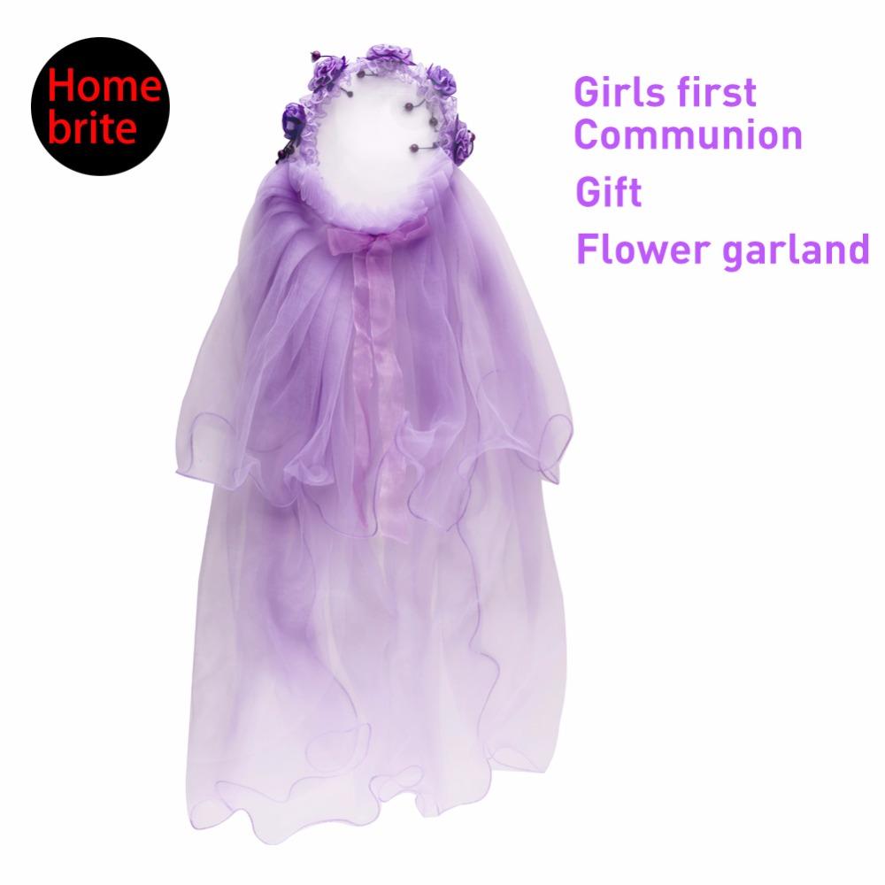 Girls Wedding Tiara Flower Wreath Party Wedding Artificial