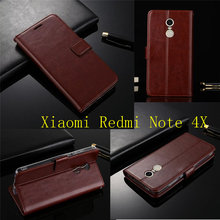 "Buy Luxury Leather Case Xiaomi Redmi Note 4X Case Flip 5.5"" Wallet Stand Cover Xiaomi Redmi Note 4X Cover Phone Bag Capa for $6.54 in AliExpress store"