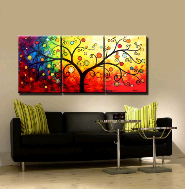 Aliexpress Com Buy 3 Piece Canvas Art Home Decoration: Aliexpress.com : Buy New 3 Piece Canvas Art Hand Painted