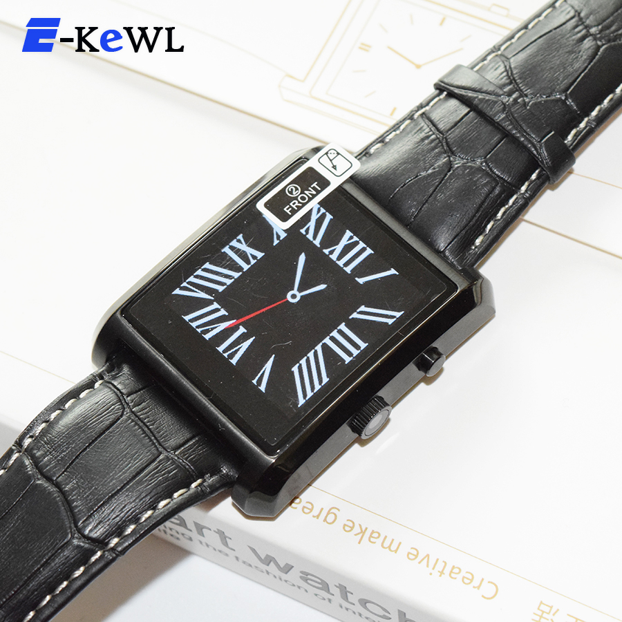 2015 E-Kewl DM08 Bluetooth Smart Watch Men Leather IPS Smartwatch Wristwatch ios Android Phone PK U8 DZ09 GV08 GV18
