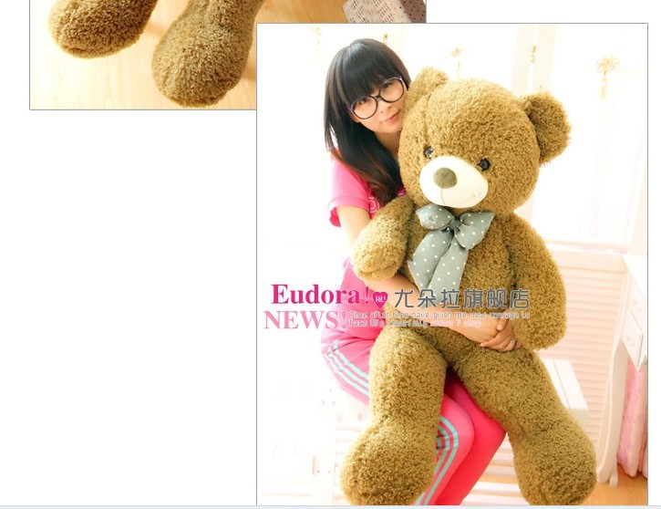 stuffed animal teddy bear army green bear plush toy about 150cm tie bear doll 59 inch throw pillow toy b9217(China (Mainland))