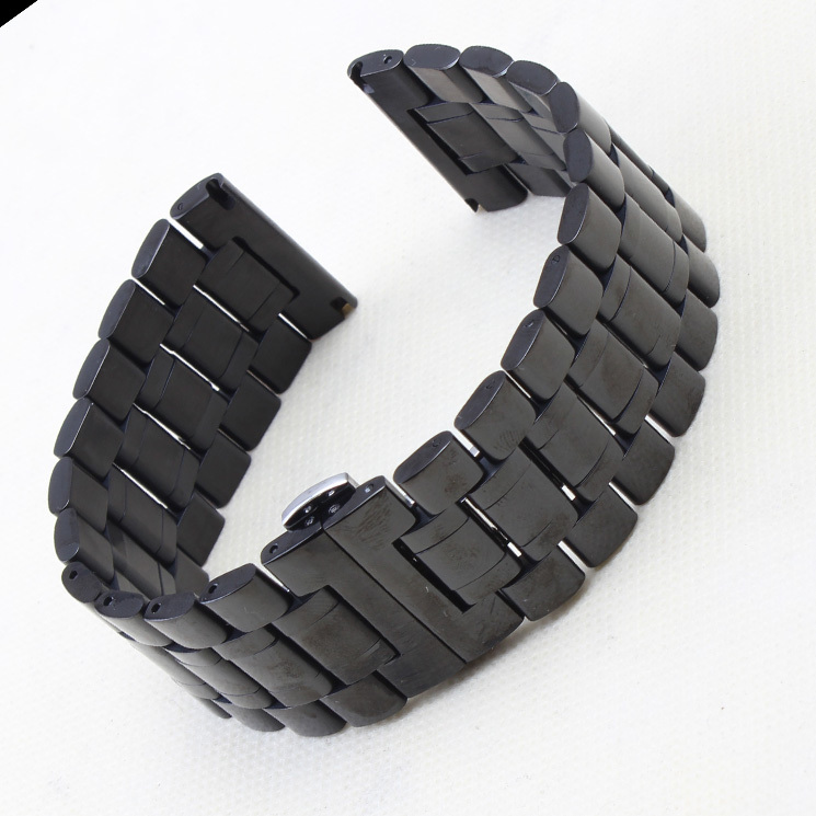 26mm mesh watch strap prices net watchband stainless steel black watchbands 26mm strap straightend solid links two sides button watch band
