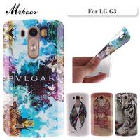 Fashion Painted Pattern TPU Silicone Soft sFor LG G3 D855 Case For LG G3 D850 F400 VS985 LS990 Cell Phone Back Cover Case