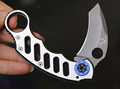 Small Folding Pocket Knife Stainless Steel Claw Knife Outdoors Camping EDC Rescue Tools