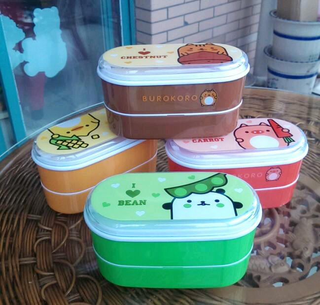 High Quality Cartoon Healthy Plastic Lunch Box 600ml Bento Boxes Food Container Dinnerware Lunchbox Cutlery with Chopsticks(China (Mainland))