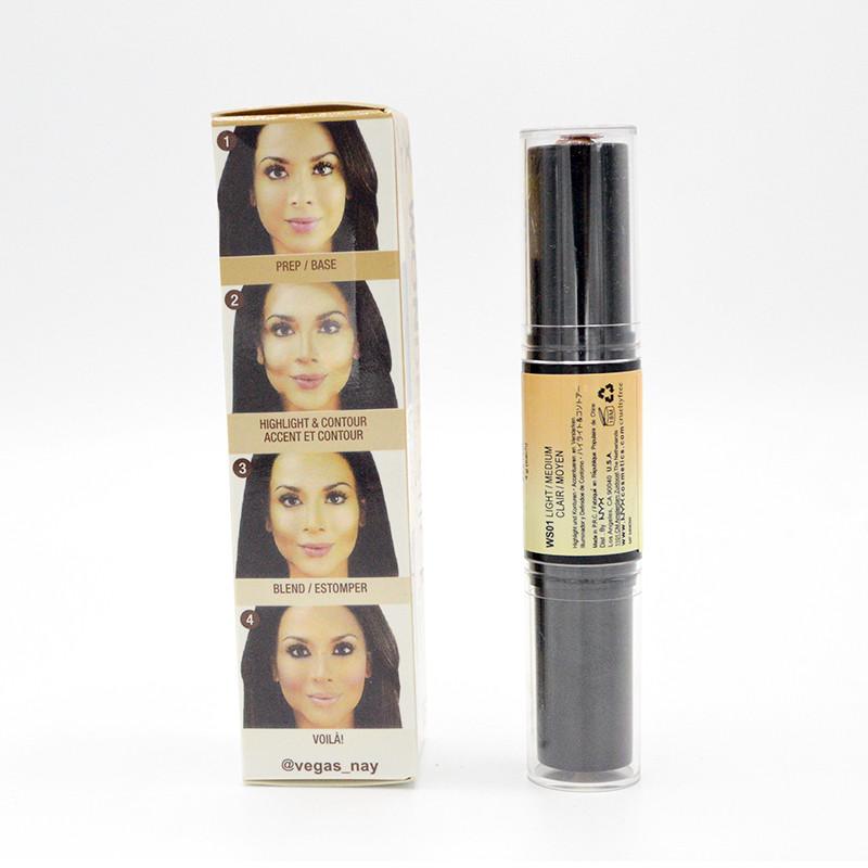 1PCS Glow Kit Brand Makeup Bronzer & Highlighter Cosmetics Face Highlighter Shimmer Maquiagem Cream Brighten Light Double Ending