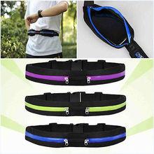Sport Runner Zipper Fanny Pack Belly Waist Bag Fitness Running Belt Pouch(China (Mainland))