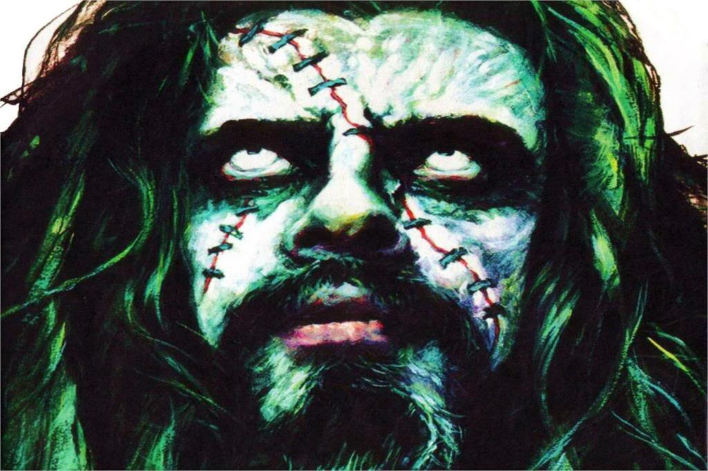 Living room home wall decoration sill fabric poster ROB ZOMBIE industrial metal heavy white zombie rob