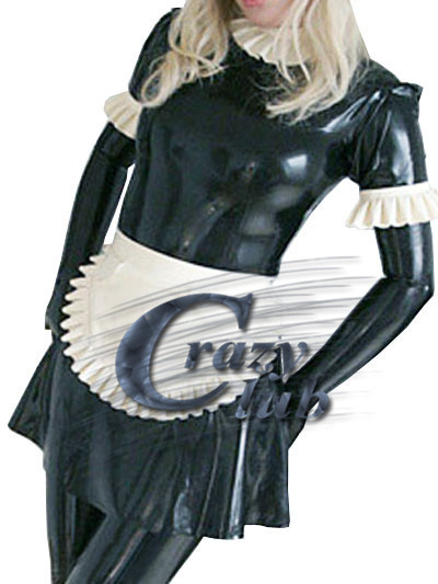 Crazy club_Sexy Women Latex nun costume with long sleeves and flying Customized Dress Fetish  Fast Delivery