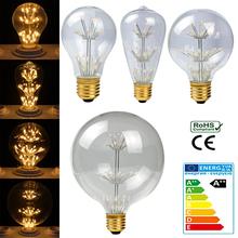 LED Edison Bulb Retro Bombillas LED E27 Vintage COB LED Filament Energy Saving Lamp 3W 220V ST64 G80 For Decor Home Lighting(China (Mainland))