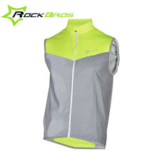Buy 2017 ROCKBROS Reflective Cycling Vests Sleeveless Windproof Cycling Jackets MTB Road Bike Bicycle Jerseys Top Clothing Wind Coat for $14.98 in AliExpress store