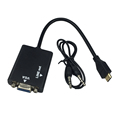 Mini HDMI to VGA with Aduio cable Male to Female Video HDTV Conversion Cable Adapter For