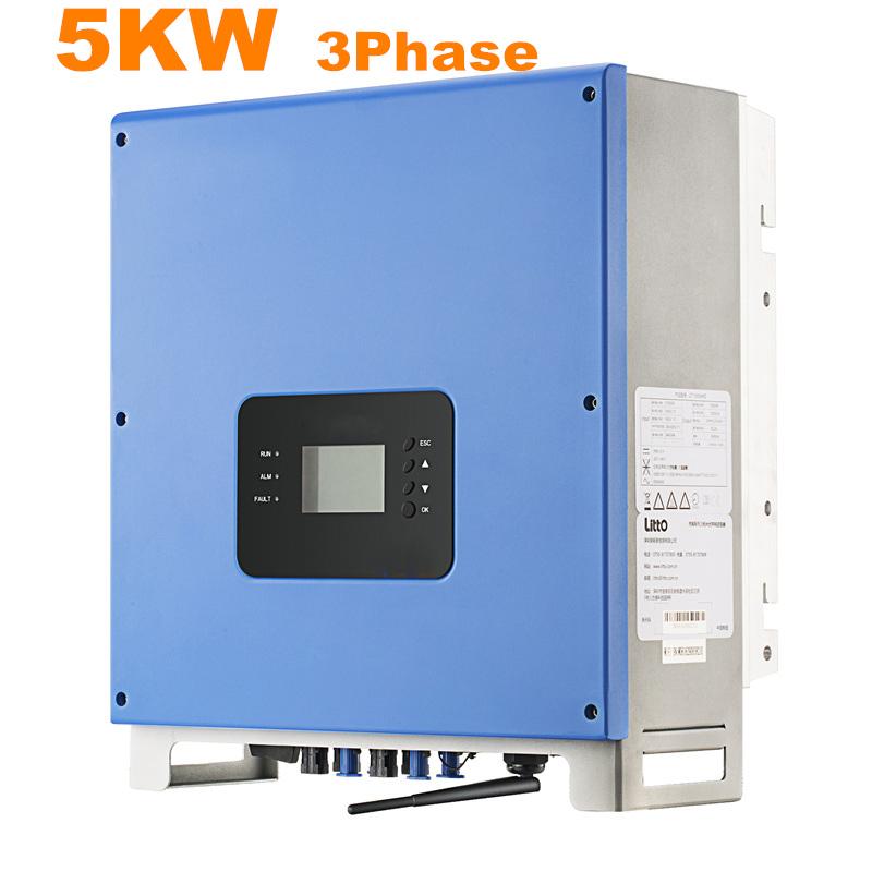 Cool ! Solar Inverter 5000W Grid Tie Inverter MPPT 3 Phase High Frequency Inverter 380VAC 50/60 HZ Pure Sine Wave Inverter(China (Mainland))