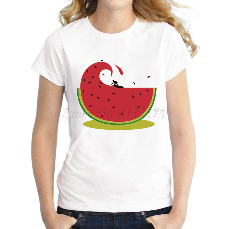 Buy women cute watermelon design t shirt for How to make a printed shirt