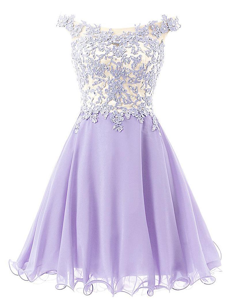 In Stock Lavender Pink Champagne Blue Aqua Elegant Appliques Short Evening Dress 2016 Party Dress Robe De Soiree(China (Mainland))