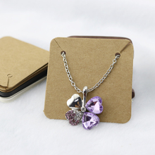 Wholesale 100pcs/lot Fashion Jewelry Necklace Packaging Display Tag Thick Kraft Paper Card Jewelry Price Tags 5x5cm(China (Mainland))
