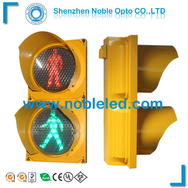 yellow housing traffic signs 200mm pedestrian light(China (Mainland))
