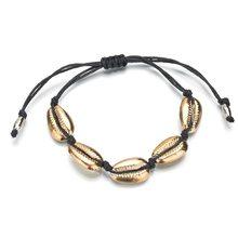 Jisensp Handmade Bohemian Shell Bead Rope Chain Bracelet Jewelry for Woman Girls Vintage Beach Shell Bracelet Party Gifts(China)