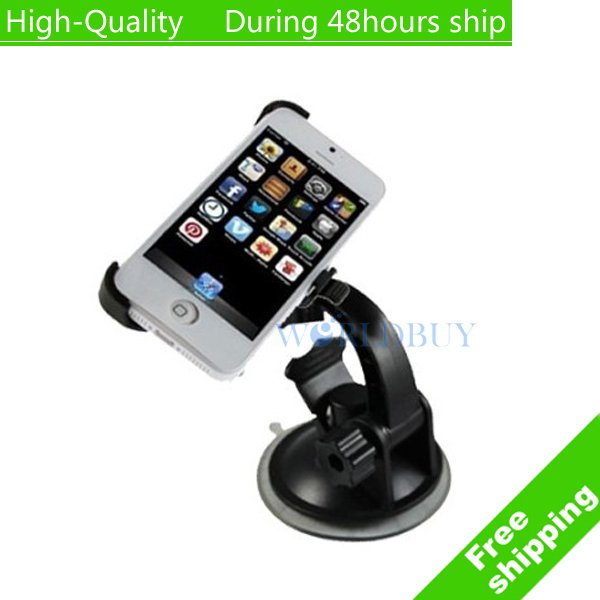 High Quality Windshield Suction Car Mount Cradle Holder For Apple iPhone 5 5s Free Shipping(China (Mainland))