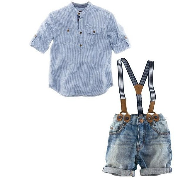 New Boys Meninos Jeans Set Solid Color White Blouse with Suspender Trousers Short Pant Children Summer Clothing Kids Cloth Set(China (Mainland))