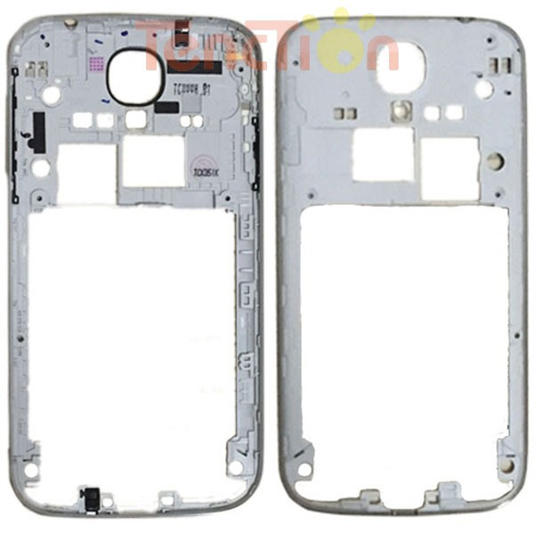 Original Silver Rear Back Housing Middle Frame Bezel Plate Shell For Samsung Galaxy S4 S 4 IV AT&T i337 T-Mobile M919 i9505(China (Mainland))