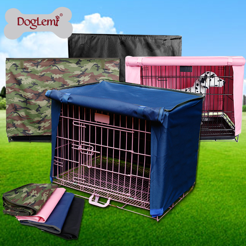 New 600d Oxford Waterproof and wind proof Dust Shrouded Pet Cage Cat Dog Cover Cloth not contain the wire cage.(China (Mainland))